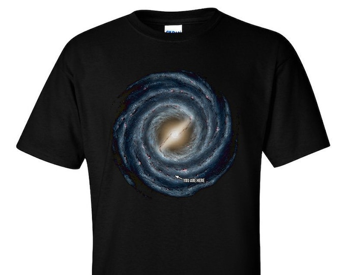 Not Just Nerds Milky Way Galaxy You Are Here T-Shirt