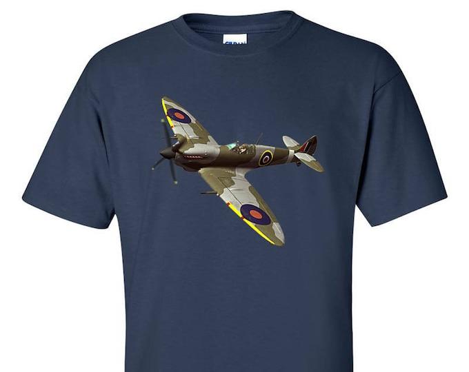 Supermarine Spitfire Fighter Aircraft WW2 RAF T-Shirt