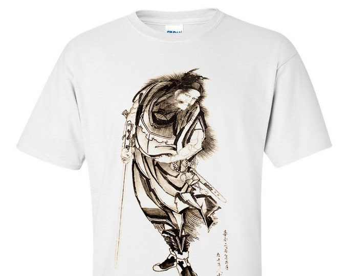 Katsushika Hokusai Shōki, Japanese Warrior Fine Art Mens T-Shirt