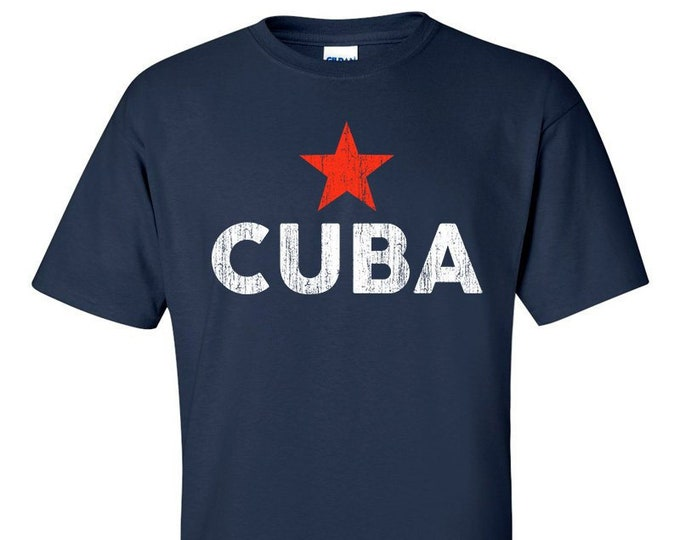 Cuba Distressed Logo  T-Shirt