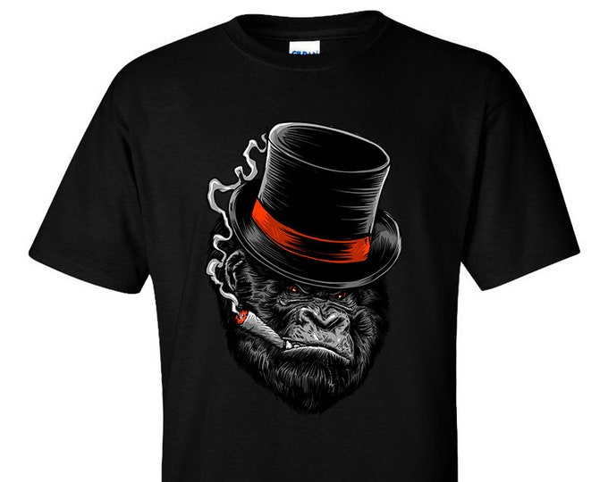 Like A Boss Cigar Smoking Gorilla T-Shirt