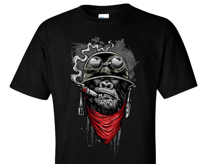 Not Just Nerds Biker Ape of Duty T-Shirt