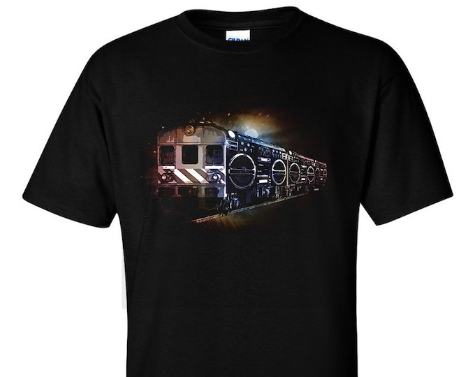 Not Just Nerds  Ghetto Blaster Boombox Train T-Shirt