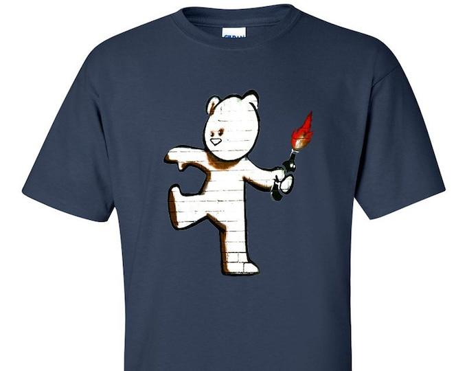 Banksy Mild Mild West Petrol Bomb Bear T-Shirt
