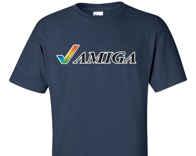 Commodore Amiga Tick Retro Computer T-Shirt