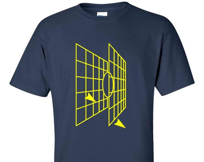 Millenium Falcon Tie Fighter Attack Graphic T-Shirt
