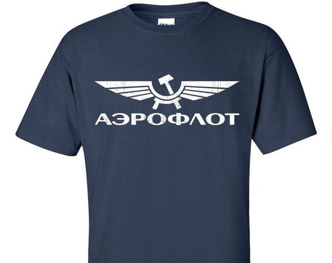 Aeroflot Distressed Logo T-Shirt