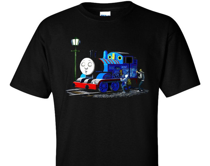 Banksy Thomas The Tank Engine Graffiti T-Shirt