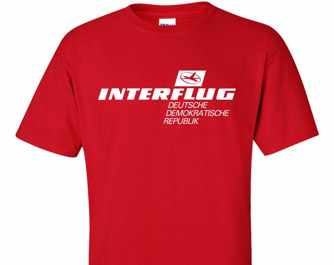 Interflug Airline East Germany T-Shirt