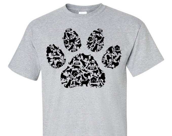 Not Just Nerds Dogs Pawprint Elements T-Shirt