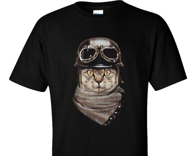 Not Just Nerds Biker Cat T-Shirt