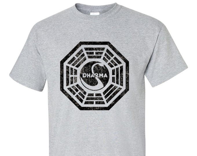 Dharma Initiative Distressed Logo LOST Inspired T-Shirt