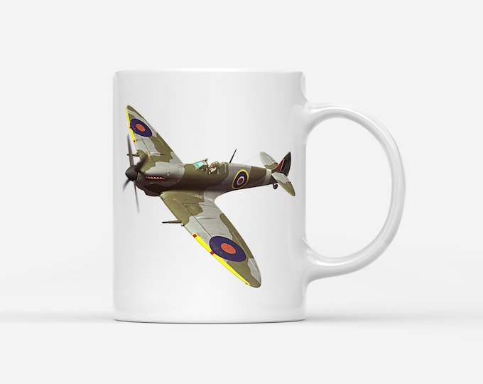 Supermarine Spitfire Fighter Aircraft WW2 RAF Mug