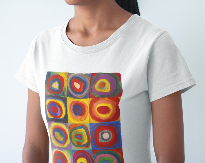 Colour Study Concentric Circles By Wassily Kandinsky Fine Art Womens T-Shirt