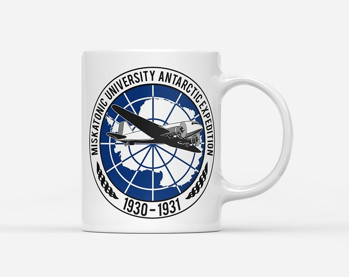 Miskatonic University Antarctic Expedition Lovecraft Inspired Mug