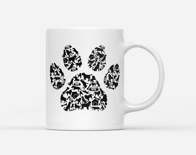Dog Paw Print Elements Mug