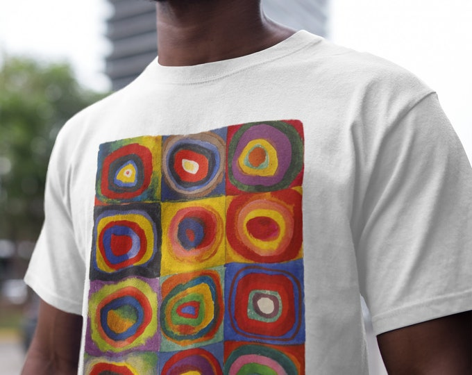 Colour Study Concentric Circles By Wassily Kandinsky Fine Art T-Shirt
