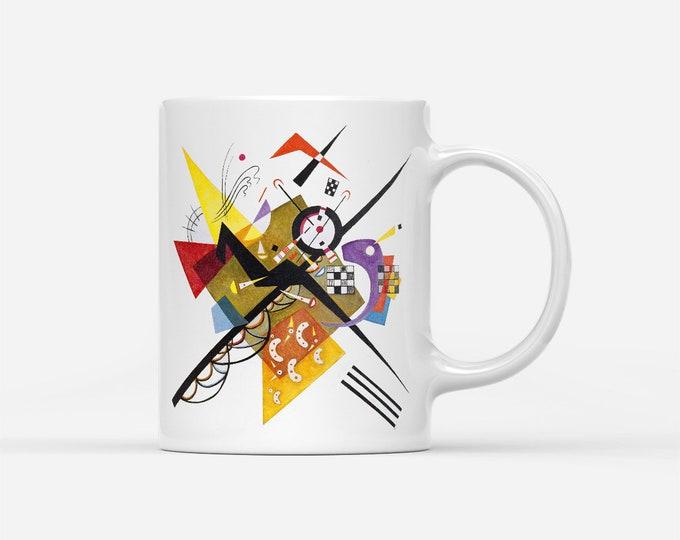 On White II By Wassily Kandinsky Fine Art Gift Mug