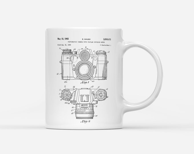 Camera Patent Blueprint Photography Gift Mug