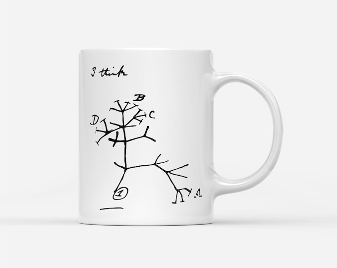 "Darwin's Tree Of Life, ""I Think"", Evolution Gift Mug"