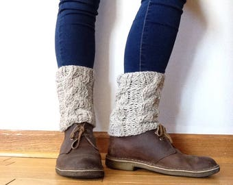 Cozy handknit wool boot toppers