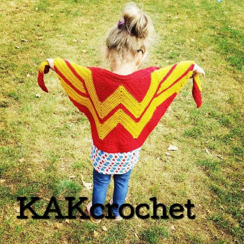 XTall Adult Sizing Wonder Woman ScarfGirl power ShawlSuperhero ScarfFangirlCosplay Red /& Gold ShawlAmericanaChild