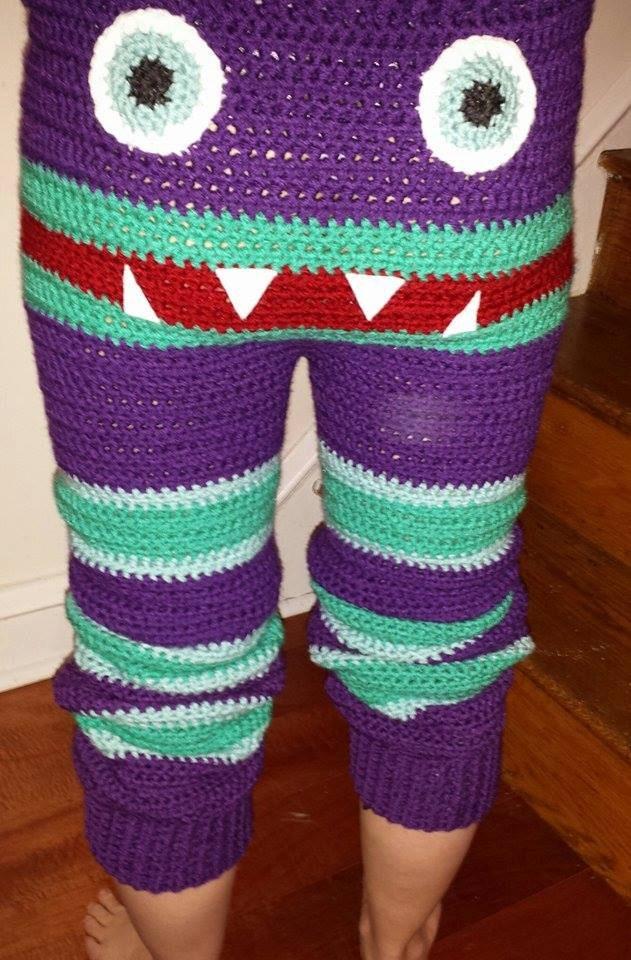 Adult Monster Pants Pattern Crocheted Pants Pattern Etsy