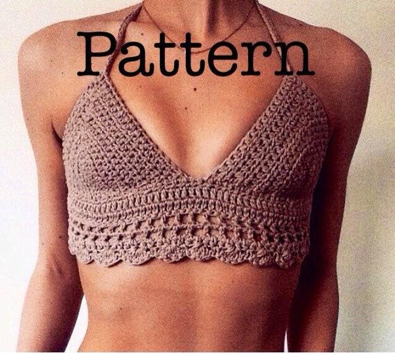 Crochet Bralet Top 21 UK SELLER Bralette knitted Bikini and festival Top