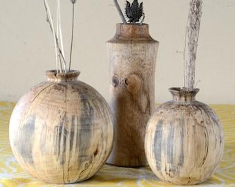 Wooden Vase   Dry Vase   Weed Pot   Bud Vase  Mother's Day  Table Decor  Mini Flower Vase   Number Vase   Wedding Favor