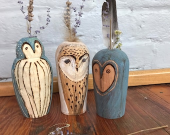 Weed Pot   Owl Collector   Dry Weed Pot   WoodenVase   Unique Gift   Birthday Gift   Christmas Gift   Handmade