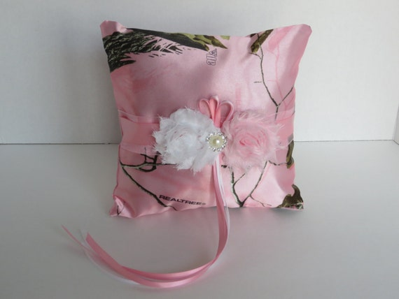 Realtree Pink Ring Bearer Pillow Pink Camo Ring Pillow Camo Etsy