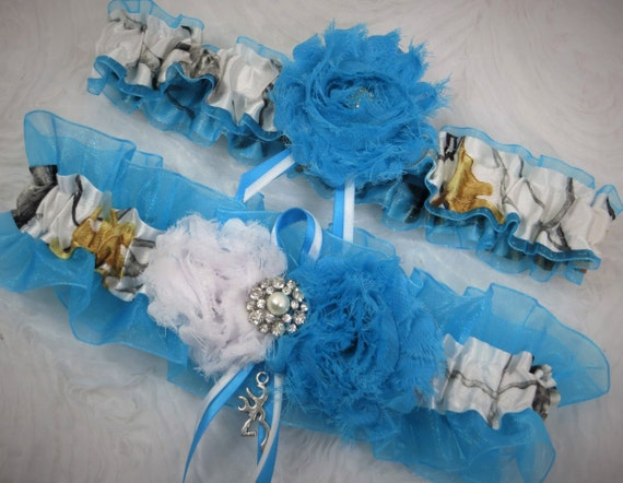 b35ebdb26 White Camo Garter Turquoise Garter True Timber Camo