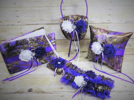 Purple Camo Wedding Set Purple Camouflage Wedding Set True Etsy