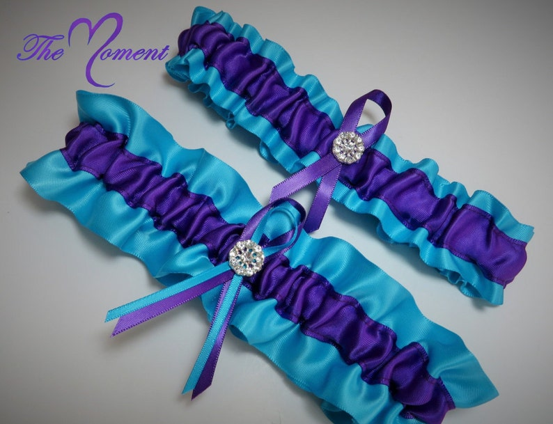 dd33d9481 Turquoise and Purple Garter Set Purple and Turquoise Garter