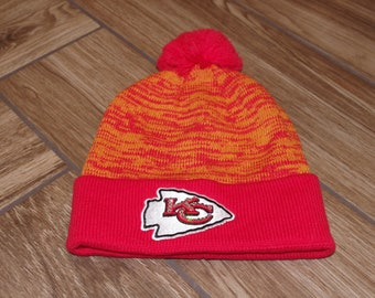 557e8aab Chiefs knit hat | Etsy