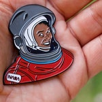 Mae C. Jemison - soft enamel pin.  Celebrate a doctor and an astronaut!