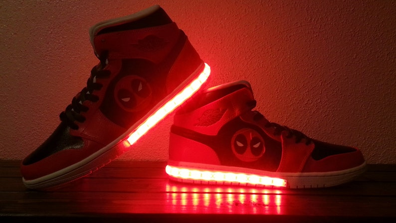 2c4bbcf5d4e6d Men's Light Up Marvel Shoes