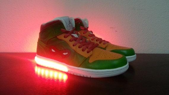 Teenage Mutant Ninja Turtles TMNT Boys Raphael and Leonardo Light-Up Sneakers