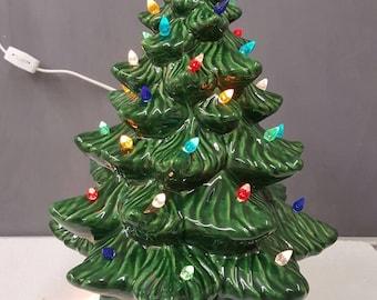 vintage style medium ceramic christmas tree 15 inches ceramic tree christmas tree ceramic light up tree