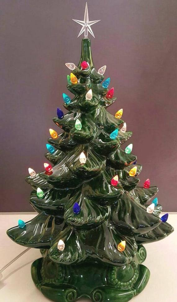 Ceramic Christmas Tree.Ceramic Christmas Tree 16 Ceramic Christmas Tree 16 Tall 18 With Star Ceramic Tree Large Ceramic Christmas