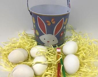 Easter Egg Paint Kit - 6 Ceramic Eggs - Easter Eggs - Easter Present - Kids Craft - Paint Your Own Easter Egg Kit - 6 Eggs - Craft - Egg