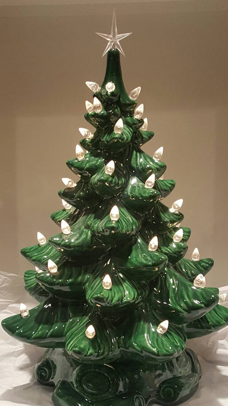 Ceramic Christmas Tree 16 Inches Ceramic Christmas Tree Etsy