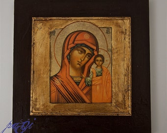 Icon on wood handmade