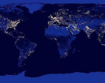 Night world map etsy nasa sat night world map digital download file amazing quality fine art projects school classrooms teaching aid frame and hang gumiabroncs Images