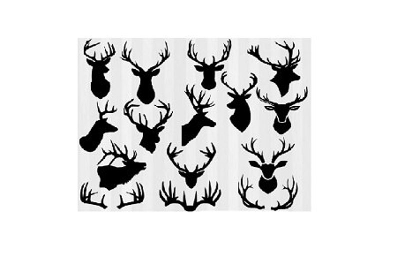 picture relating to Printable Deer Target known as Deer Elk Antlers Moose Clipart pdf svg eps - Prompt Down load Countless Dimension Printable Poster - Emphasis Coach - Wall Artwork - Body it!