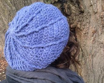 Instant Download: Spiral Beret Crochet Pattern