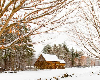 Waters Farm in Winter 5x7 8x10 Print or 12 x 18 Standout Photography