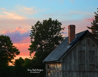 Water's Farm at Sunset Original Photography