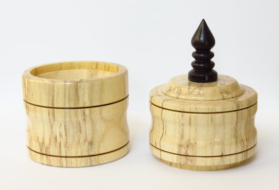 Wondrous Lidded Box Spalted Hackberry Wood Exotic African Blackwood Finial 5 8 H X 2 9 W Wooden Trinket Box Wood Box Light Wood Forskolin Free Trial Chair Design Images Forskolin Free Trialorg