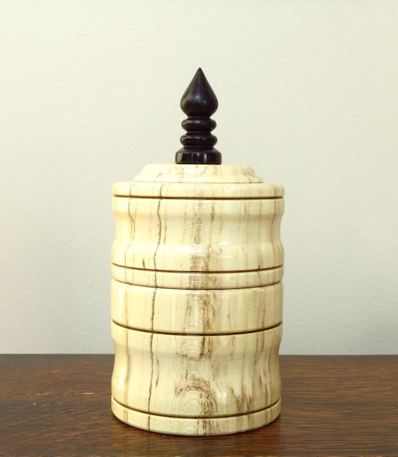 Peachy Lidded Box Spalted Hackberry Wood Exotic African Blackwood Finial 5 8 H X 2 9 W Wooden Trinket Box Wood Box Light Wood Forskolin Free Trial Chair Design Images Forskolin Free Trialorg